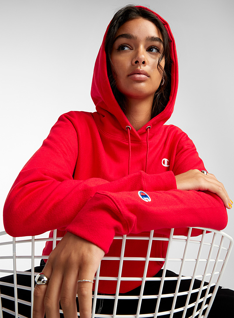 Embroidered logo hoodie - Sweatshirts & Hoodies - Red