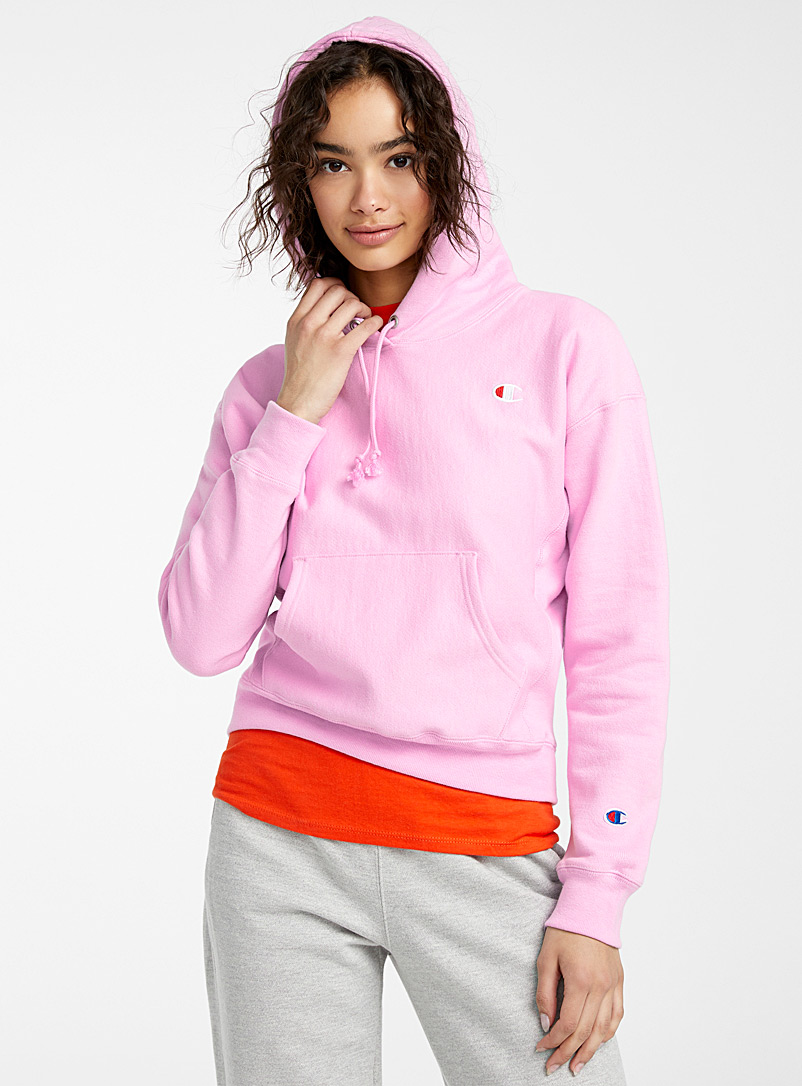 Champion Dusky Pink Embroidered logo hoodie for women