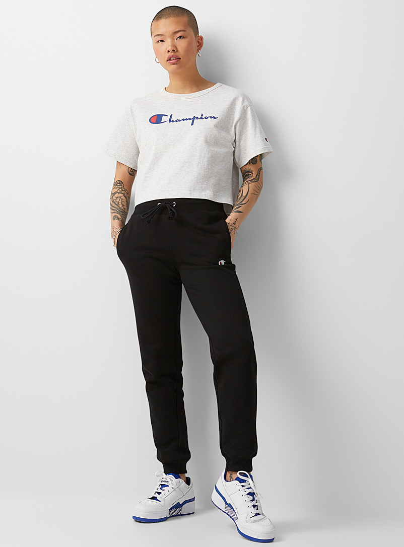 Champion Charcoal Mini-logo sweat joggers for women