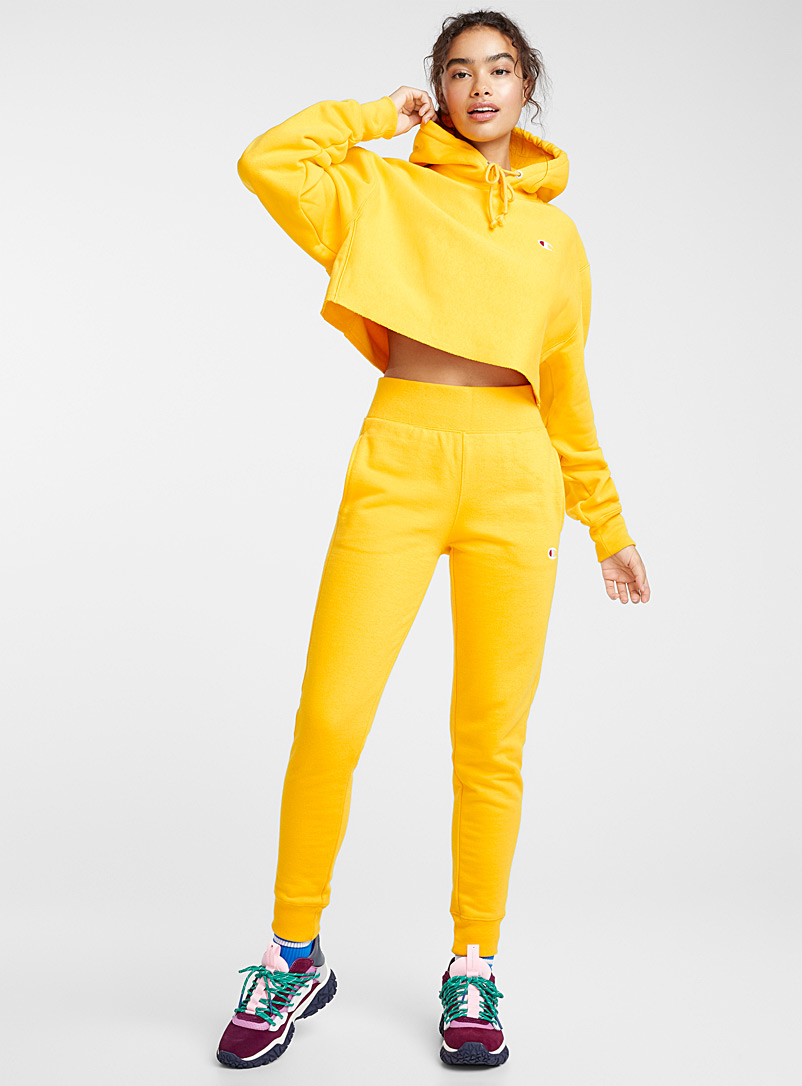 Mini-logo sweat joggers - Joggers - Golden Yellow