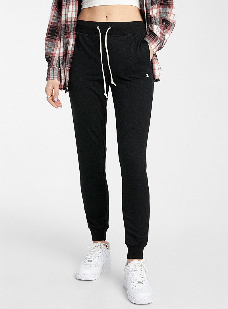 Champion Black French Terry joggers for women