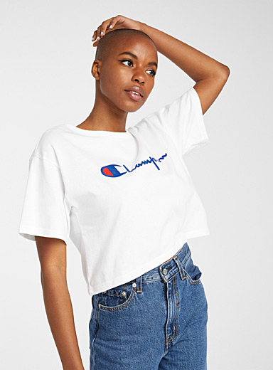 Loose cropped logo tee