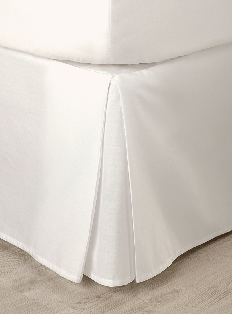 Percale plus bedskirt - Bed Skirts & Shams - Ivory White