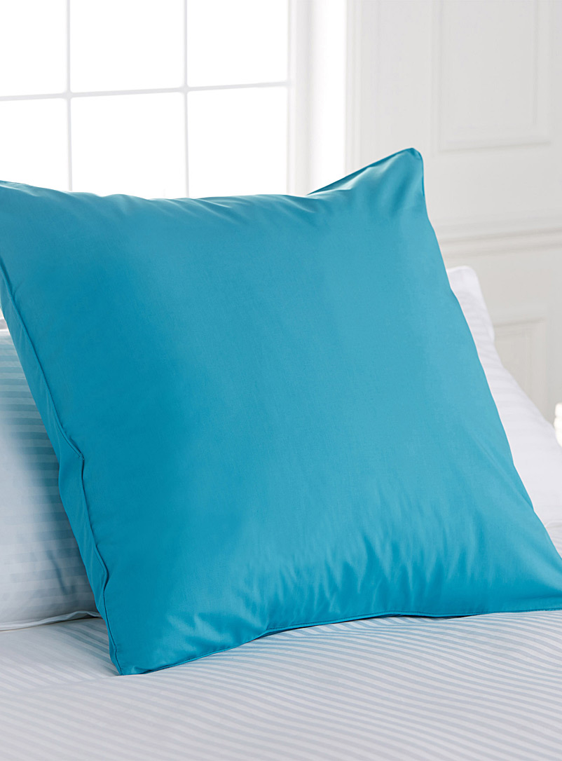 Simons Maison Sapphire Blue Percale plus euro pillow sham, 200 thread count