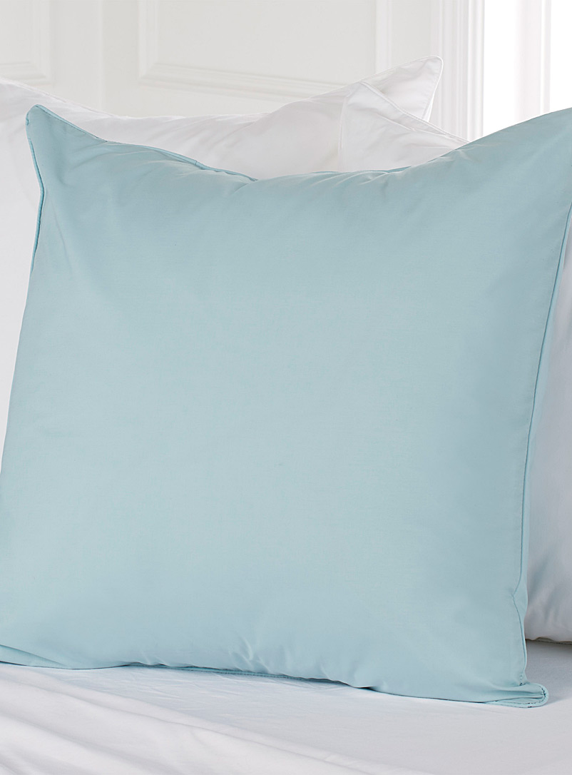 Simons Maison Baby Blue Percale plus euro pillow sham, 200 thread count