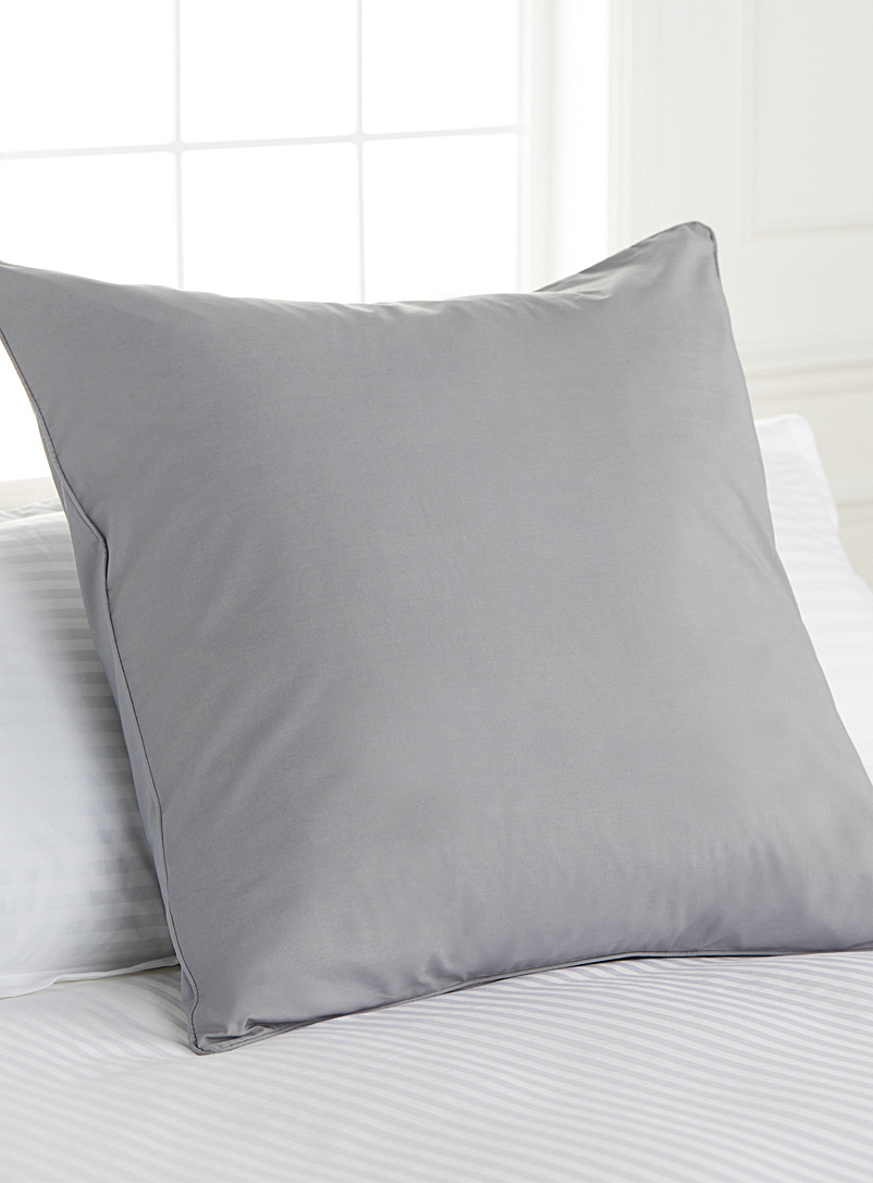 Simons Maison Dusky Pink Percale plus euro pillow sham, 200 thread count