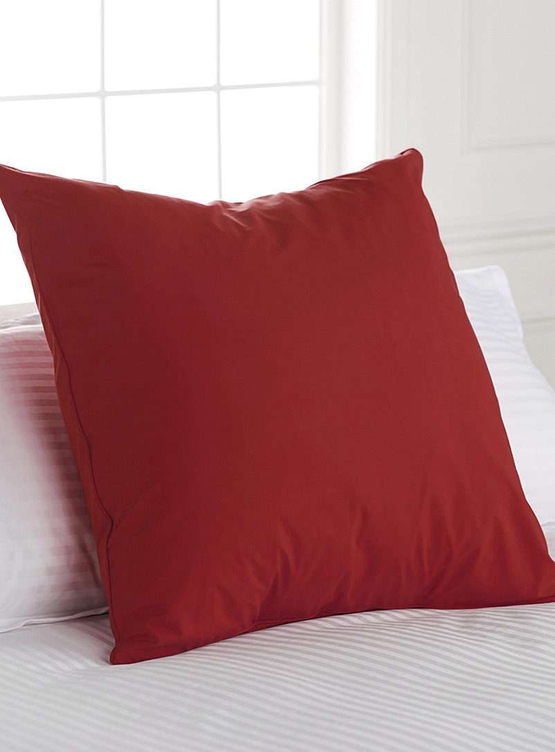 Percale plus euro pillow sham, 200 thread count - Bed Skirts & Shams - Ruby Red