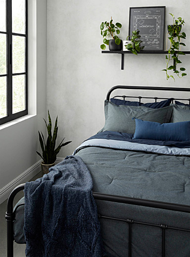 Denim comforter set