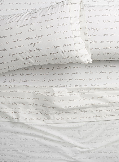 Sweet words percale plus sheet, 200 thread count <br>Fits mattresses up to 15 in.