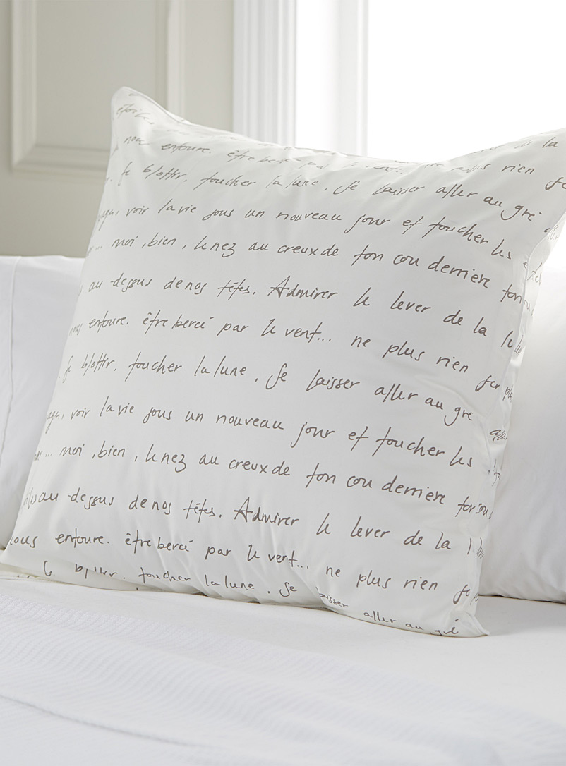 Sweet words Euro pillow sham