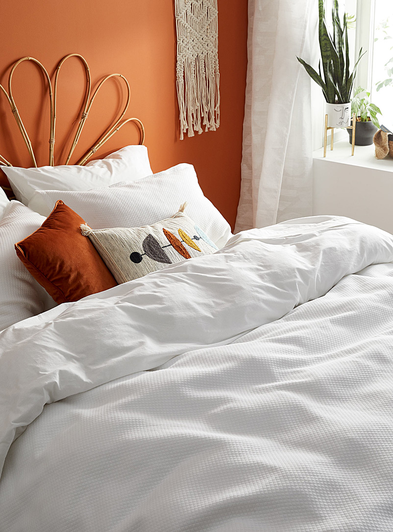 Simons Maison White Quilted jersey duvet cover set