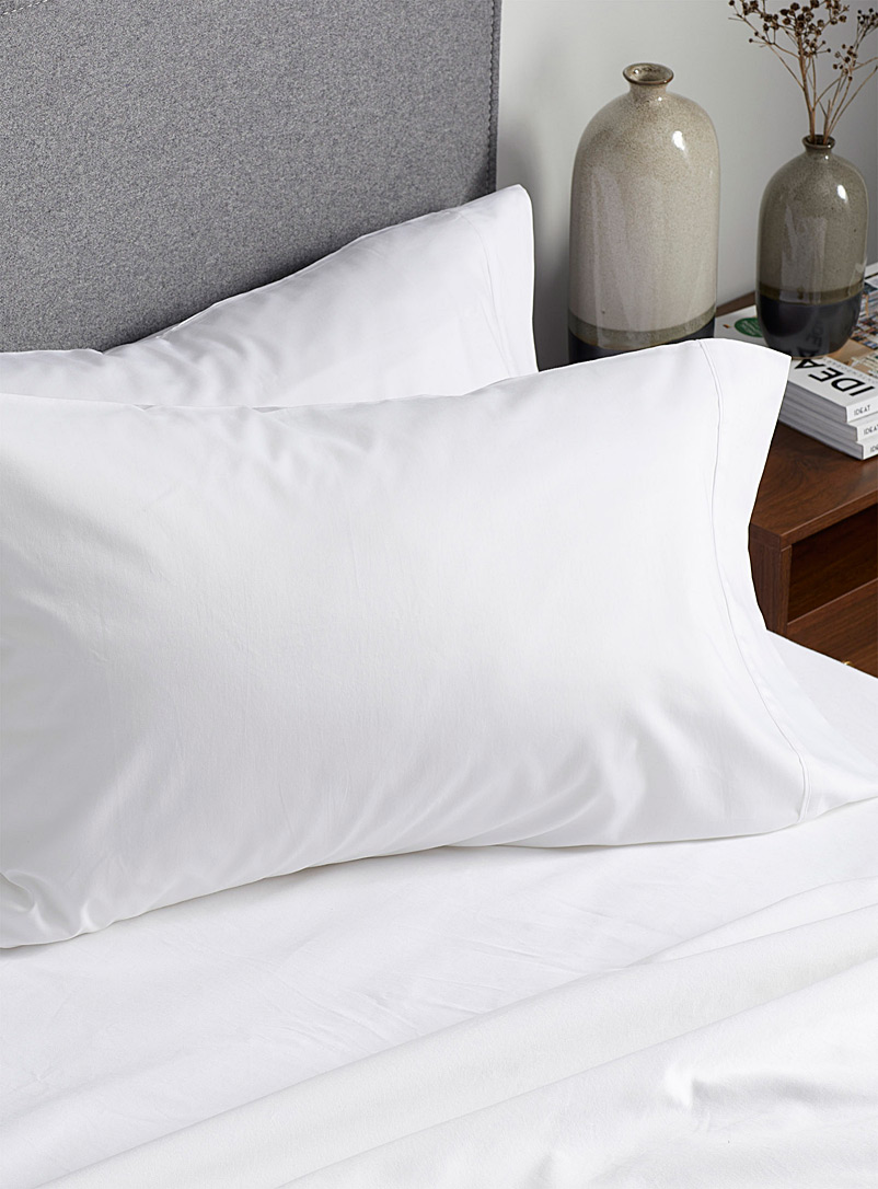 Simons Maison White Liquid cotton 400-thread-count pillowcases  Set of 2