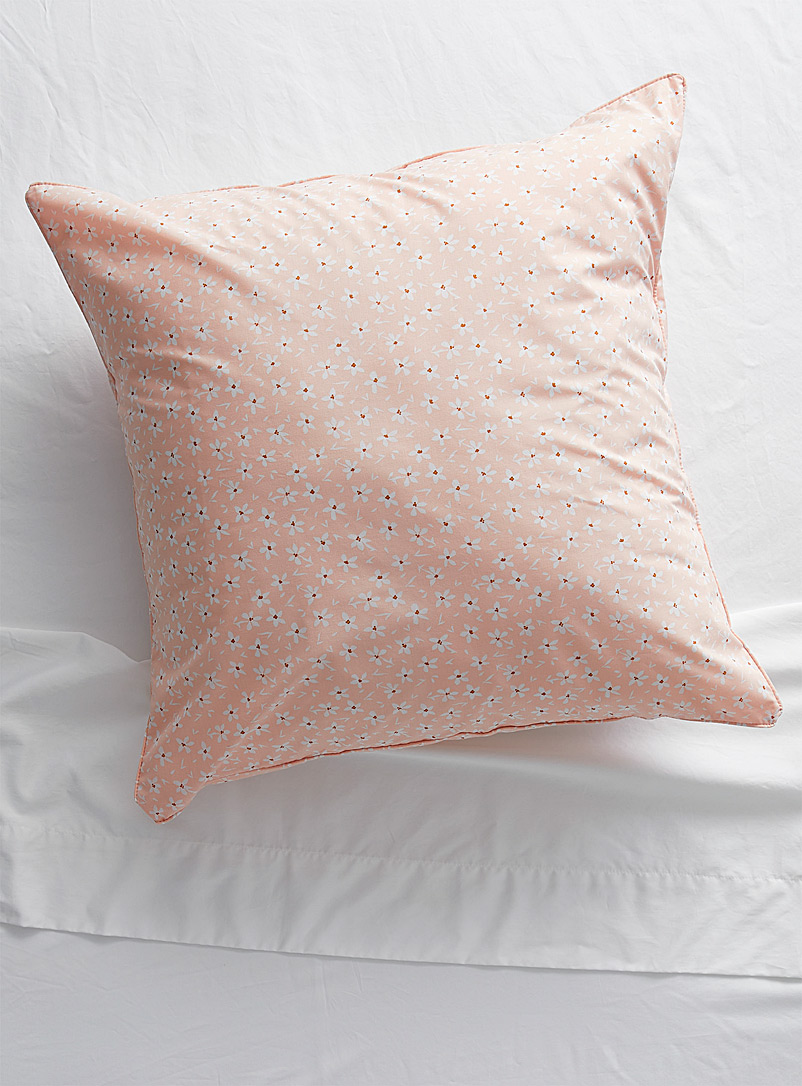 Simons Maison Dusky Pink Wildflower eco-friendly percale pillow sham