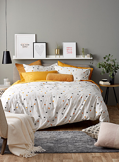 Light hearts duvet cover set
