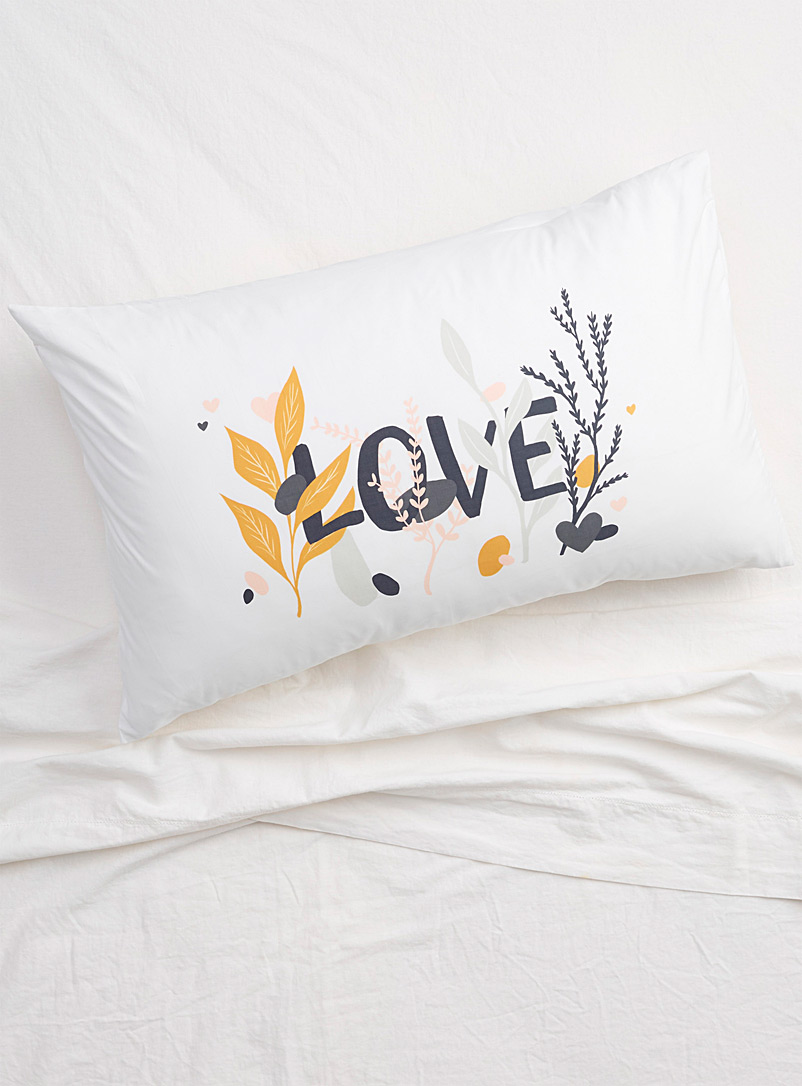 Simons Maison Assorted Romantic Love pillowcase