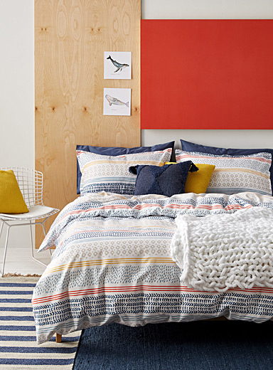 Seabed organic cotton duvet cover set