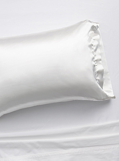 Simons Maison White Faux-silk pillowcase