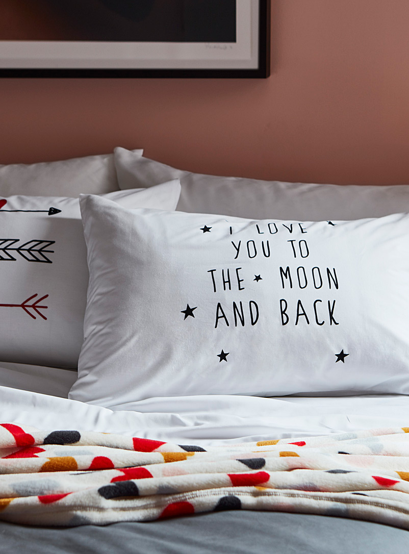 Simons Maison White Madly in love pillowcase