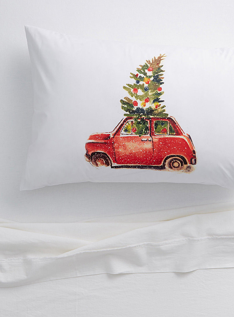 Simons Maison White Bring home the tree pillowcase