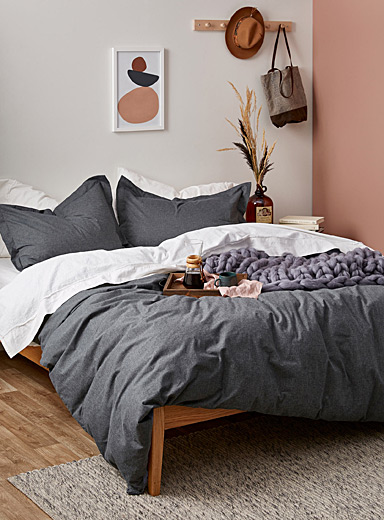 Chambray denim duvet cover set