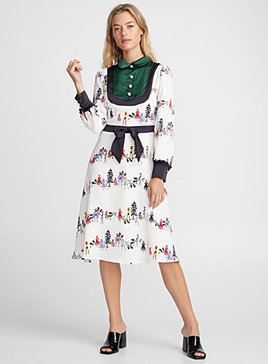 Chic forest fable dress