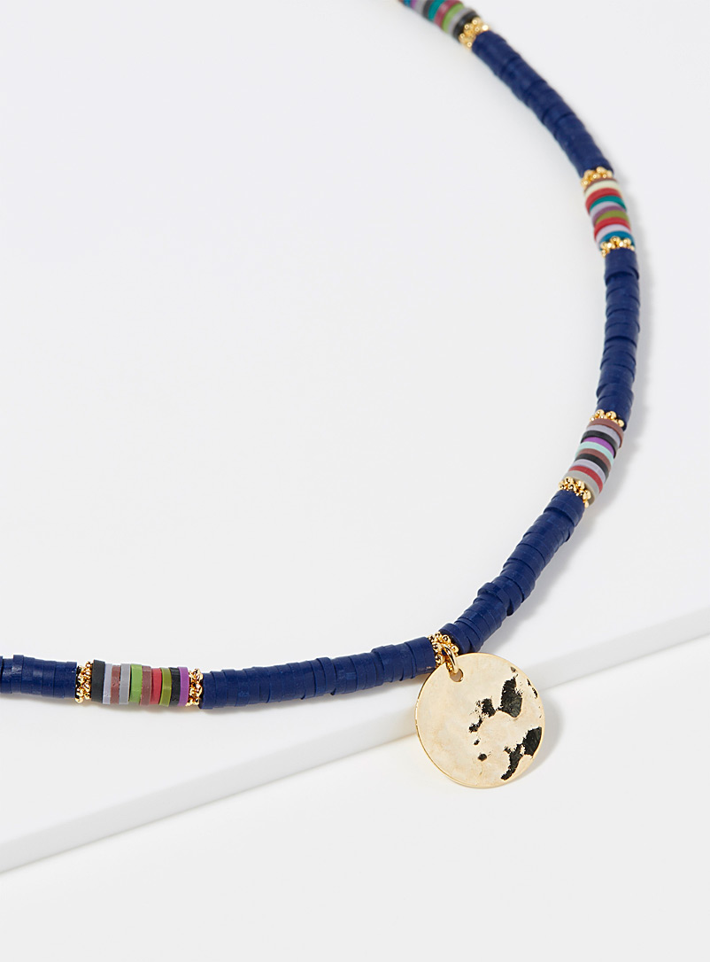 Simons Blue Multicoloured bead necklace for women