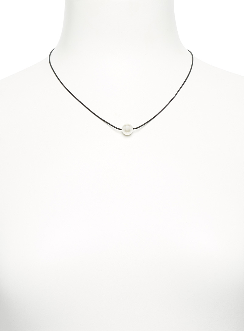 Simons Golden Yellow Pearly necklace for women