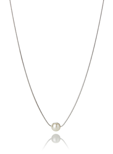 Simons Silver Pearly necklace for women