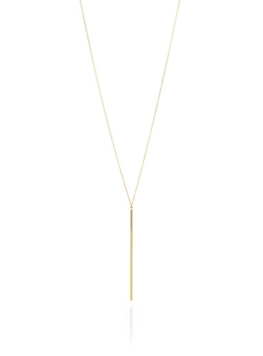Minimalist rod necklace