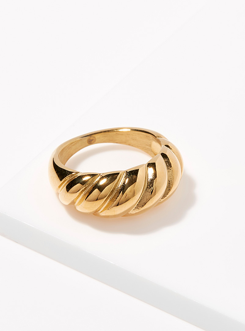 Simons Assorted Grooved dome ring for women