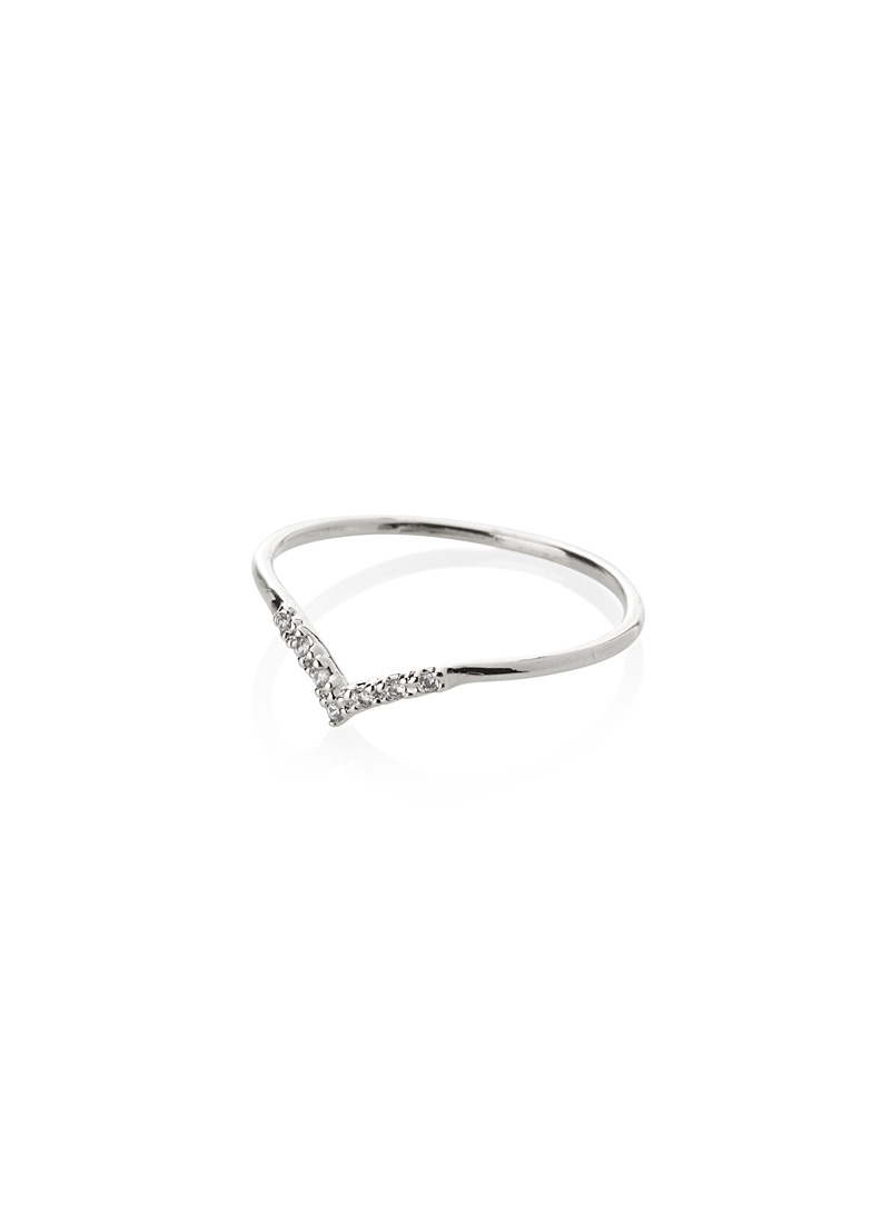 Wavy zircon ring - Rings - Assorted