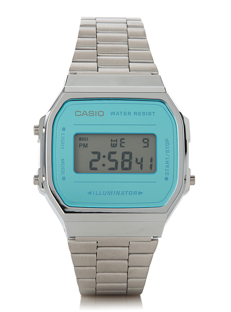 Luminescent turquoise watch - Watches - Silver
