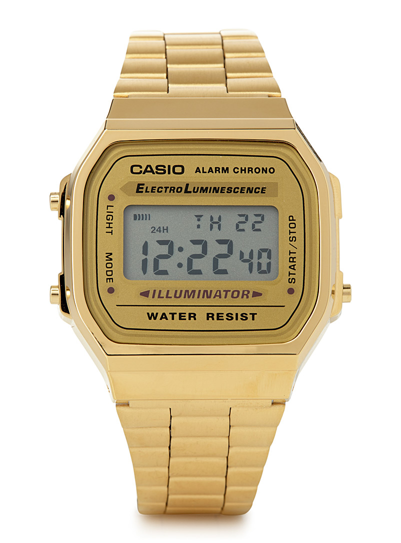 Luminescent retro watch - Watches - Golden Yellow