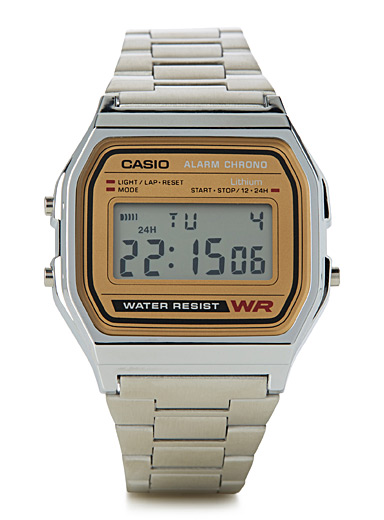 A158WEA-9EF angular retro watch