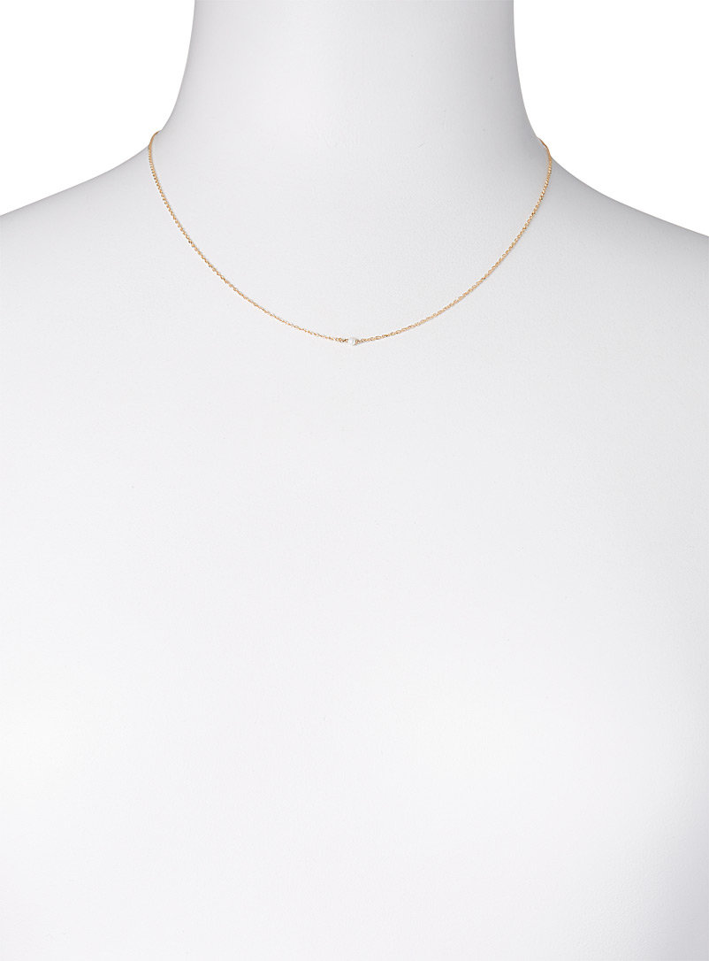 Gag et Lou White Delicate necklace for women