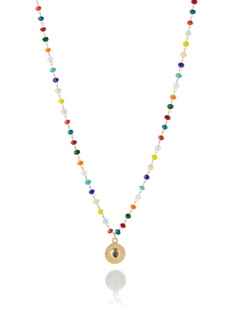Gag et Lou Patterned Yellow Chapelet multicoloured necklace for women