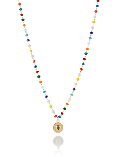 Le collier Chapelet multicolore