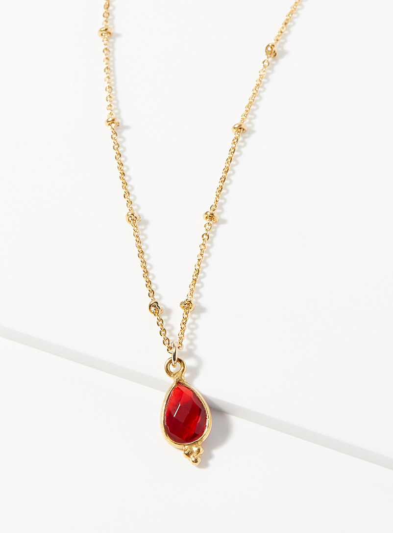 Suzanne necklace - Necklaces - Ruby Red