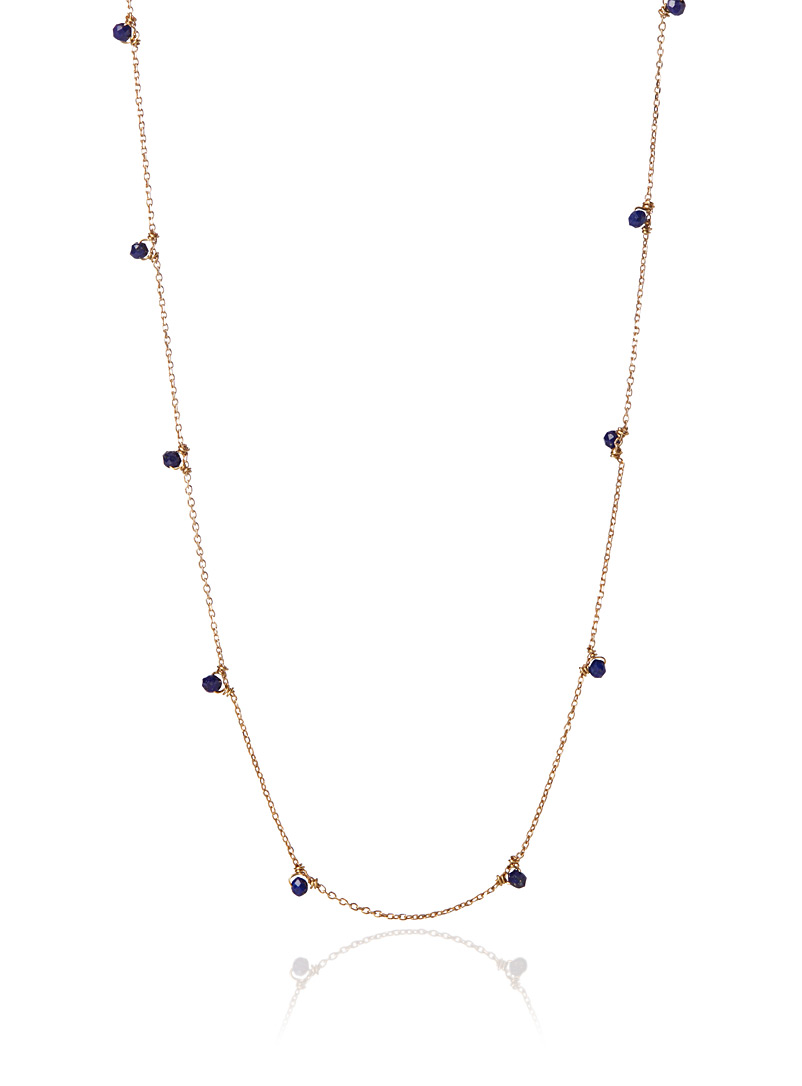 Gag et Lou Patterned Yellow Lapis lazuli Constellation necklace for women
