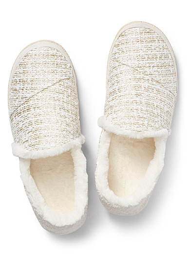 India tweed slippers