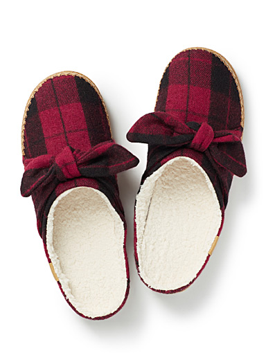 Ivy check slippers