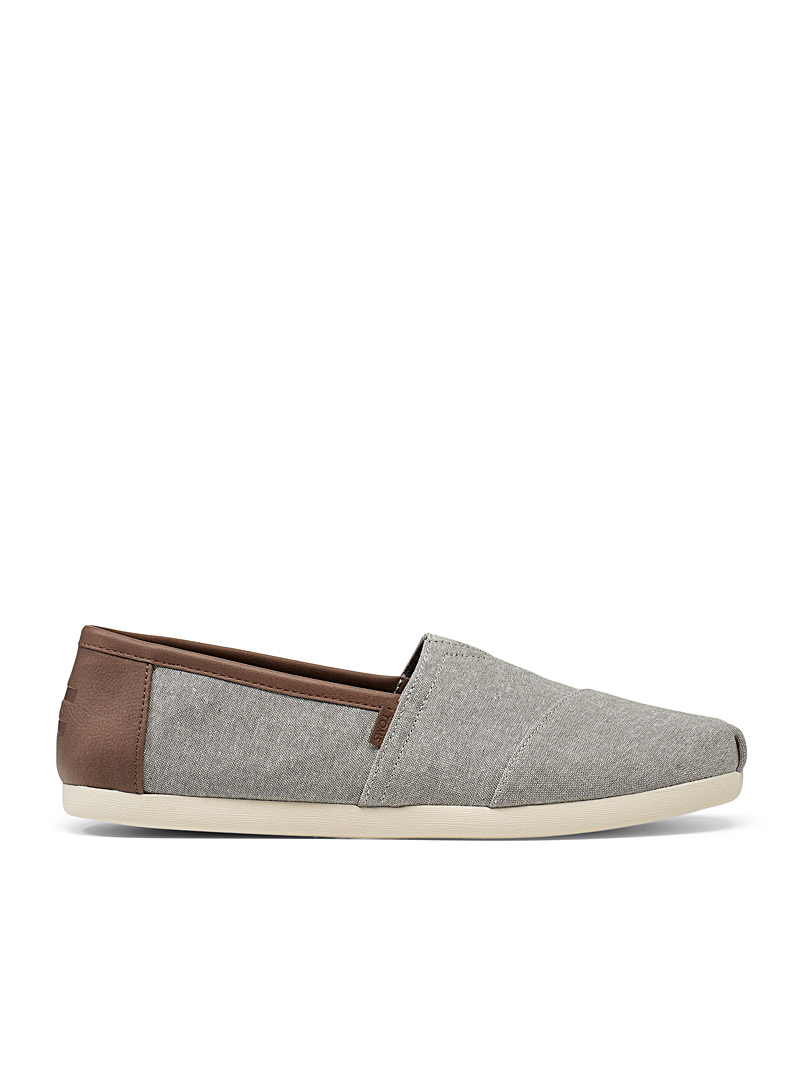 Toms Grey Alpargata denim slip-ons  Men for men