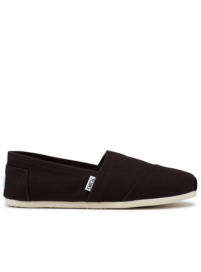 Toms Black Alpargata black slip-ons  Men for men