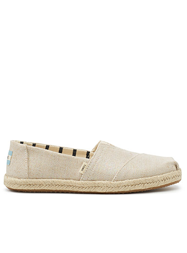 Pearlized metallic canvas espadrilles  Women