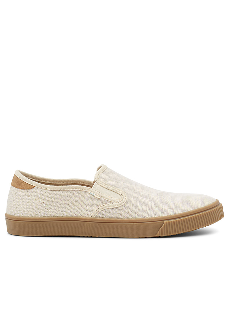 Toms Ivory White Baja Heritage slip-ons  Men for men