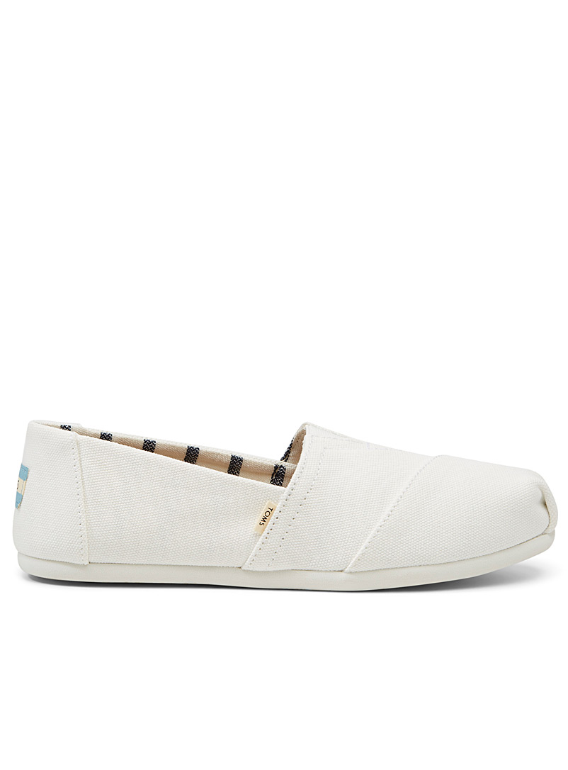 Toms White Classic canvas slip-ons  Women for women