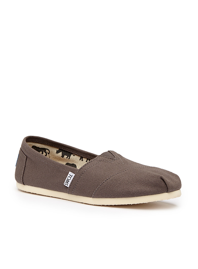 Classic canvas slip-ons  Women - Flats - Taupe