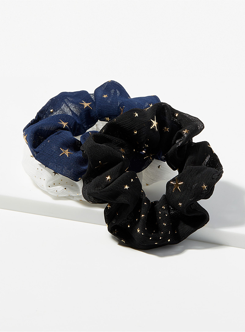 Golden accent scrunchies Set of 3