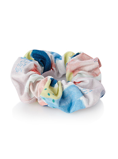 Playful pattern scrunchie