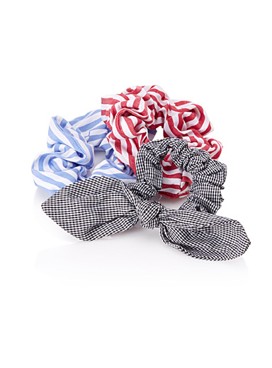 Patterned scrunchies  Set of 3